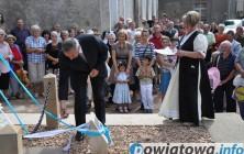 Poświęcenie odnowionej figury św. Anny 2012r.
